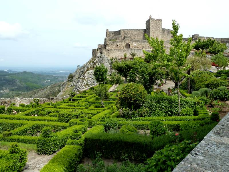 Marvao castle and gardens