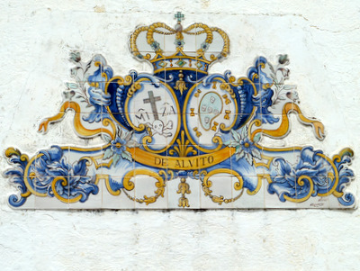Alvito tiled plaque