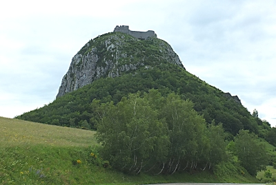 Montsegur Cathar stronghold on a high rock