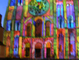Chartres - night illuminations 3