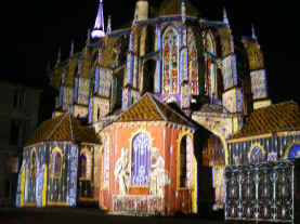 Chartres - night illuminations 1