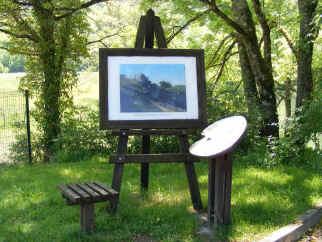 Gustave Courbet trail information board