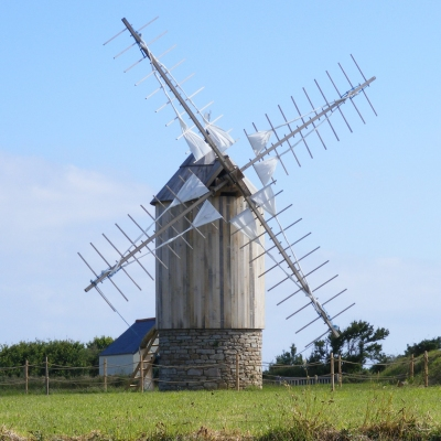 windmill near Pointe du Van