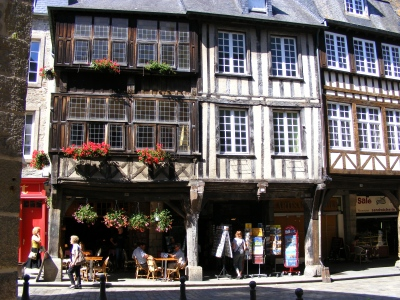 Dinan half timbered buildings