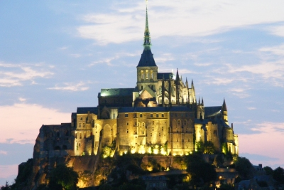 Floodlit Mont St Michel