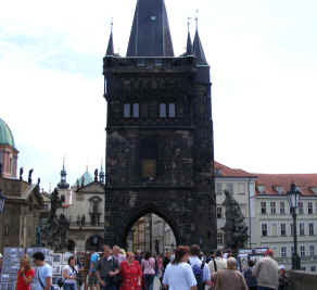Prague crowds on Charles Bridge