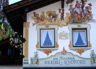 Decorated shop in Schliersee