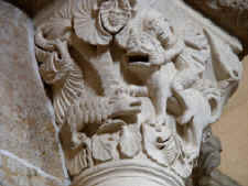Vezelay - detail of column